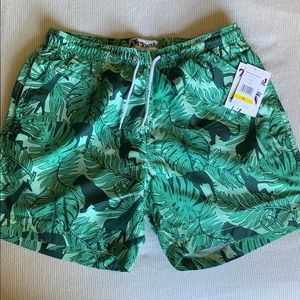 Other - Men's Animal and Leaf Print Swim Shorts